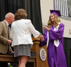 Olivia Olson receives diploma