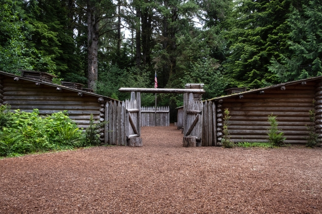 Fort Clatsop Lewis and Clark National Historical Park features a replica of the Lewis and Clark Expedition's winter quarters.