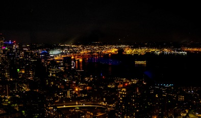 Seattle at night from the Space Needle