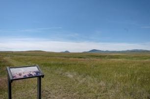 Bear Paw Battlefield Historical marker.