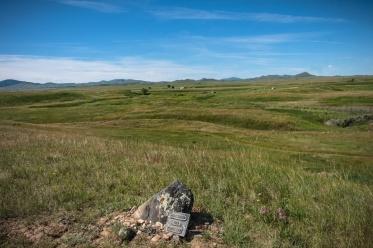 Bear Paw Battlefield memorial.