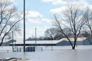 flooded buildings