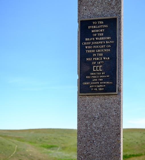 Nez Perce War memorial at the Bear paw Battlefield.