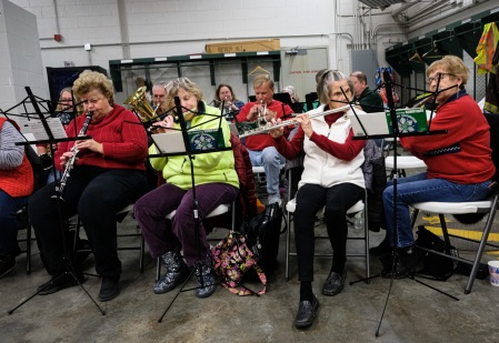 Blair Area Community Band plays at the soup supper at the South Fire Station