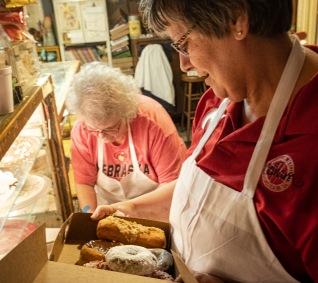 Staff fills customer orders
