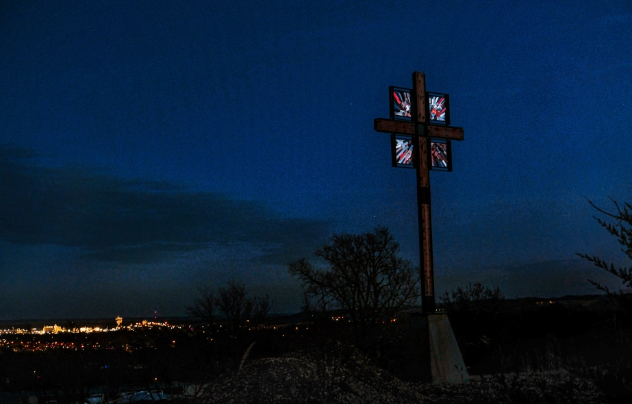 cross at twilight
