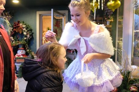 Mallory Stirek sprinkles fairy dust on Kaydence Knutson