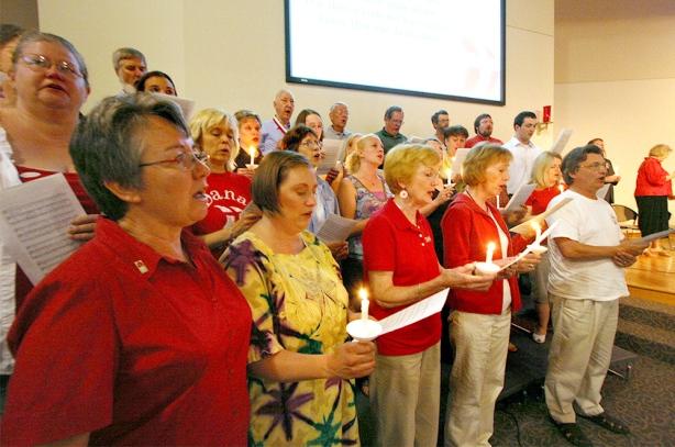 The blair and Dana community gathered at First Lutheran Church to bid farewell to Dana.