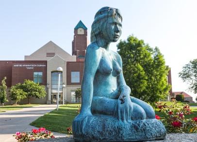 Bronze statue of the Little Mermaid.