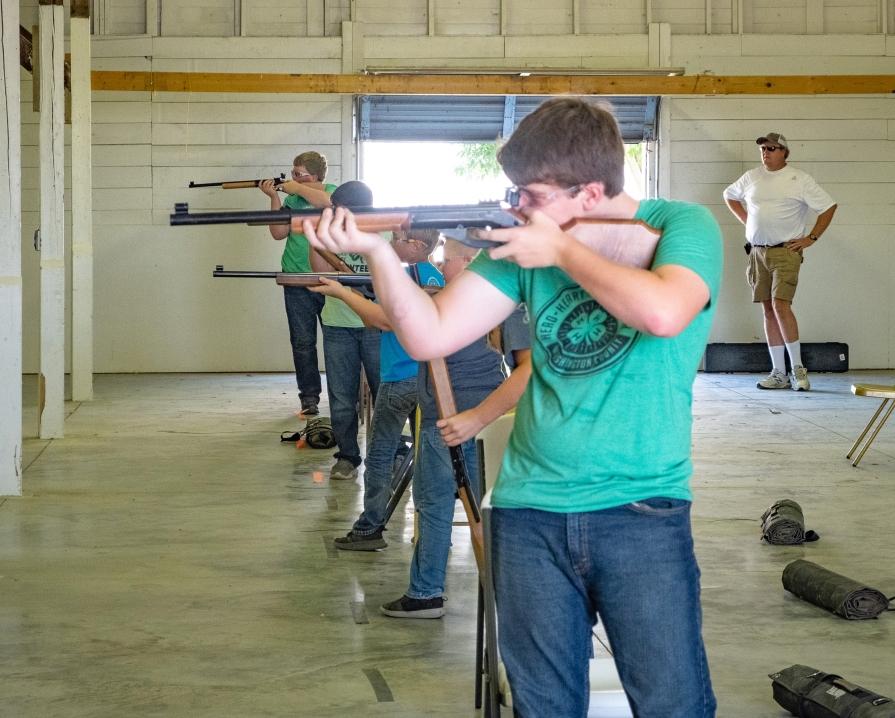 Tyler Ott competes in BB gun Competion.