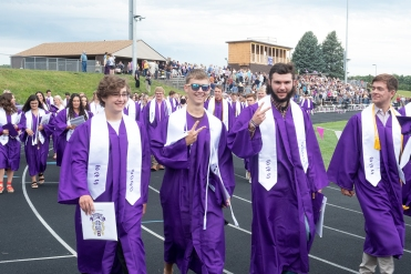 With diplomas and certifies in hand, the Blair Senior Class of 2020 leaves the stadium.