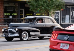 Old and new automobiles cruised downtown Blair Saturday evening.