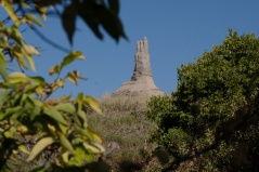 Chimney Rock was among the most notable landmarks recorded in diaries and sketch books by pioneer travelers along the Oregon Trail.