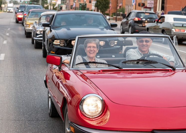 Contemporary and classic rides on Washington Street Saturday Night.