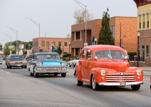 Classic cars of every style and vintage joined in the fun cruising Washington Street Saturday.