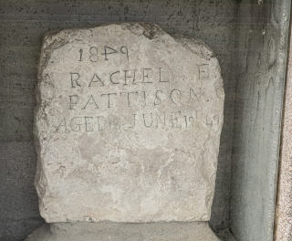 Rachel Pattison was one of thousands who died of cholera due to contaminated water along the Oregon Trail. The headstone was hand carved by her 23 year old husband Nathan Pattison. The grave marker and can be seen in the Ash Hollow Cemetery. Rachel was 18 years old. Her husband traveled on to Oregon and then Washington and never remarried.