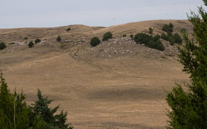 Deep ruts carved into the hillside by thousands of wagons making the descent to Ash Hollow can still be seen on Windlass Hill.